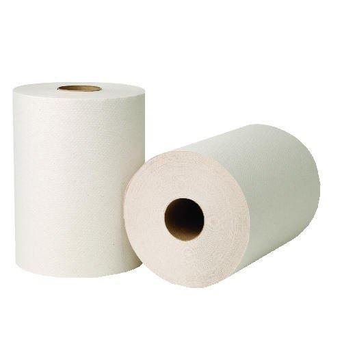 (WAU 45900 EcoSoft Universal Roll Towels, Natural White, 8quot; x 800, Case of 6)