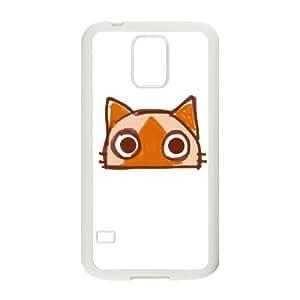 Samsung Galaxy S5 Cell Phone Case White CAT L1K2DE