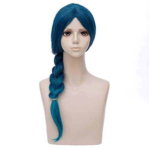 Women's Long Teal Wigs for Mermista Prestyled Braided for Cosplay Costume]()