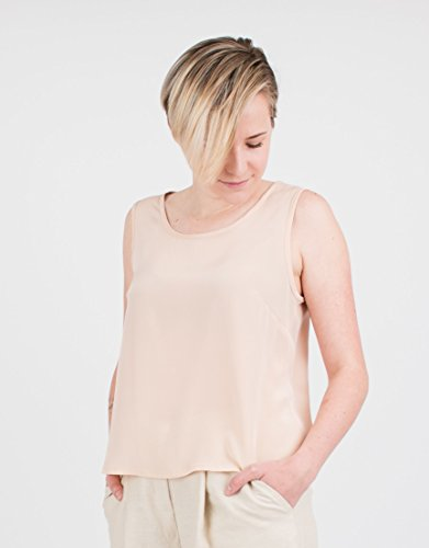 Women's Ecru Silk Sleeveless Top by BAUH designs