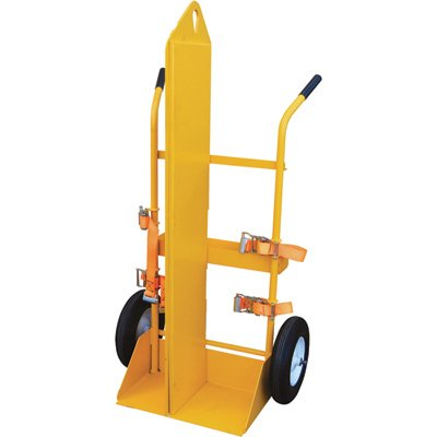 Vestil CYL-EH-FF Steel Torch Cart Lift Eye Foam Filled Wheel, 22.8125'' Length, 34.5'' Width, 66.375'' Height by Vestil