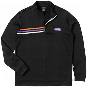 Adidas Front Pocket Three Stripe 1/4 Zip Pullover Sweatshirt (Medium, Black/Orange/Royal/White) 1/4 Zip Stripe Sweater