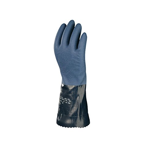 Atlas 720 Dipped-Nitrile Blue Chemical Resistant Small Work Gloves, 12-Pairs by ATLAS (Image #1)