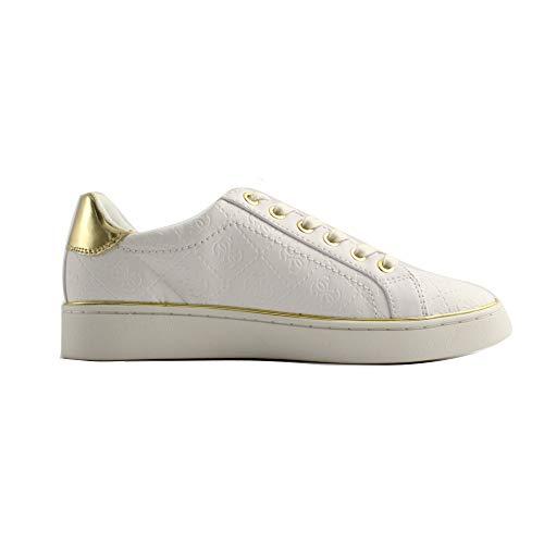 Per Donna Sneaker Beckie E White Guess Oro Bianca Bianco g1RYxwq