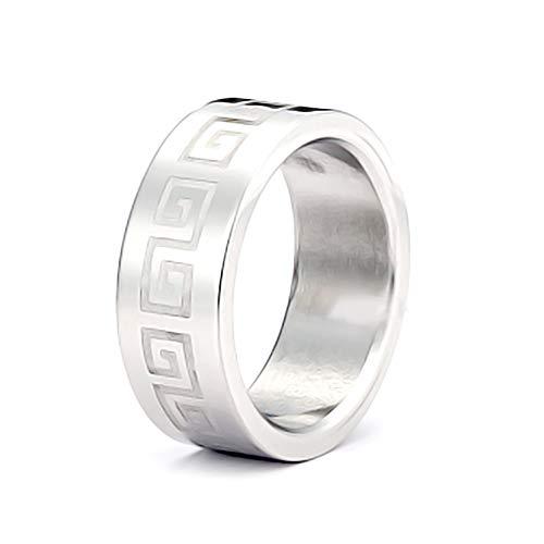 AKKi Eleganter Edelstahl Ring Silber