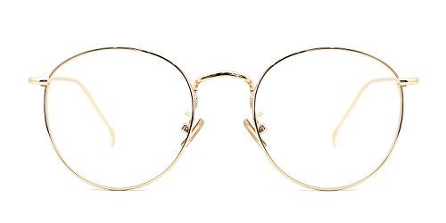 18d6e6803ec8 TIJN Women Metal Circle Eyeglasses Fashion Full Rim Round Thin Artist Frame  - Buy Online in Oman.