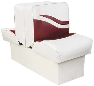 Wise Weekender Series Base Runabout Lounge Seat, White/Red, 10-Inch