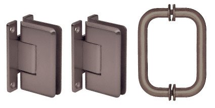 CRL Oil Rubbed Bronze Cologne Shower Pull and Hinge Set by C.R. Laurence