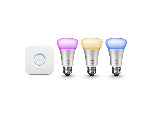 046677426354 - Philips Hue White and Color Starter Kit (Old Model, 1st Generation), 3 Bulbs and a Bridge, Works with Amazon Alexa carousel main 0
