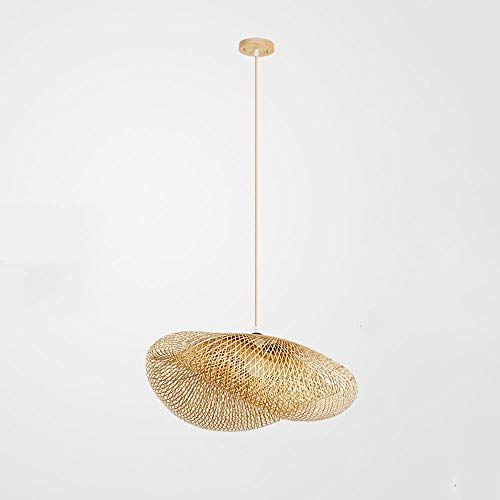 (Zr Chinese Pastoral Southeast Asian Style Bamboo Chandelier Japanese lamp, Tea House Hotel Restaurant Living Room Study )