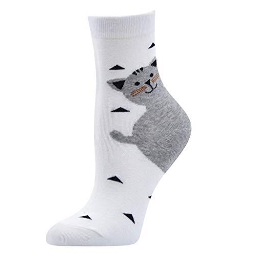 Ikevan 1 Pair Women Cute Animal Design Fashion Casual Soft Wool Cotton Socks Snowflake - Footless Tights Cuff