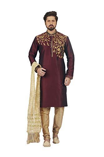 Party Pajama Wear 2 Wine Set Facioun Dupion India Da 1 Mens Wedding Of Kurta P0xqRAn8