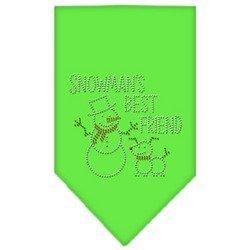 Snowmans Best Friend Rhinestone (Snowman's Best Friend Rhinestone Bandana Lime Green Small)