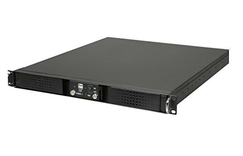 Athena Computer Power Corp. RM-DD1U12A408 1U Rackmount Black Steel Chassis by Athena Computer Power Corp. (Image #1)