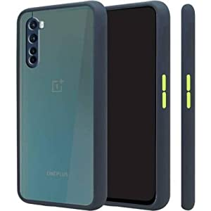 OnePlus Nord Back Cover for Back Cover Case, OnePlus Nord, (Camera Protection Smoke) (Blue, Camera Bump Protector)