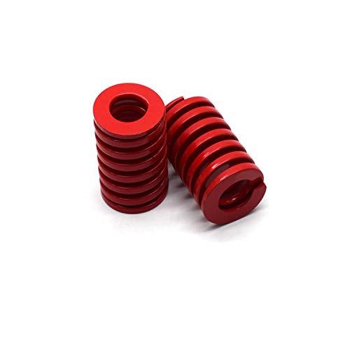 Antrader 25mm OD 40mm Long Red Medium Load Press Compression Mould Die Spring, 2-Pack