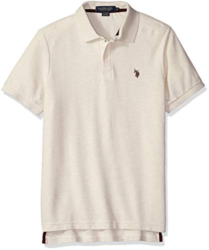 U.S. Polo Assn. Men's Ultimate Pique, Oatmeal Heather, S