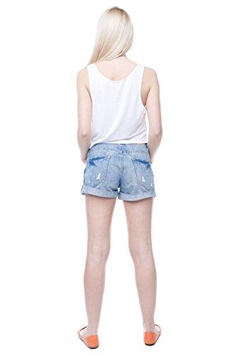 Fringoo Camiseta de tirantes de verano, casual, camiseta recortada, para chicas, tallas 36, 38, 40 3D XX Sassy
