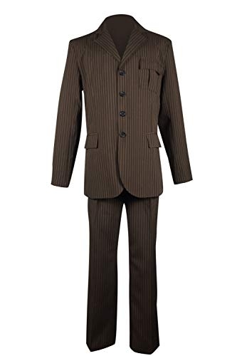 Cosplaybar Dr Brown Pinstripe Suit Blazer Pants Halloween Cosplay Costume Male XL -
