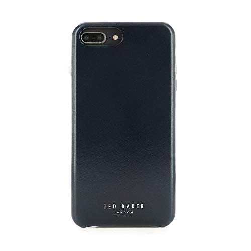 (Ted Baker [Real Leather Fashion MIDICO Case for iPhone 8 Plus / 7 Plus / 6 Plus, Protective Cover for Professional Mens/Guys for iPhone 8 Plus / 7 Plus - Navy)