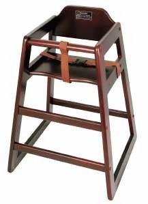 Winco CHH-103A Assembled Mahogany Stacking High Chair