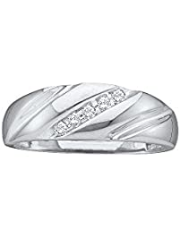 10k white gold round channel set diamond mens wedding anniversary band 110 cttw - Amazon Wedding Rings