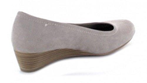 Marco Tozzi 22302 - zapatos de tacón cerrados de lona mujer pardo