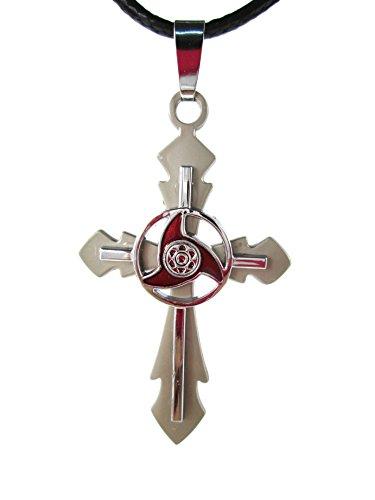 Brdwn Unisex Cosplay Inory Madara Gai Grey Uchiha Cross Necklace Accessories,Size:cross 6cm, - Moka Gift Card