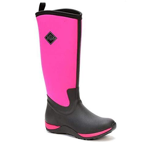 Muck Boots Women's Arctic Adventure Black/Hot Pink Size 5 Winter Boots
