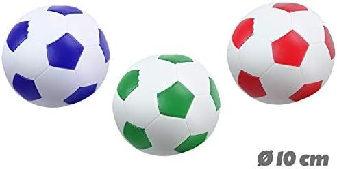 Lena-Set di 3 palle da calcio, sport e softair, di colore bianco, blu, verde o rosso, 3 10 cm, per interni ed esterni, morbide palline sportive, per bambini a partire da 12 mesi, 62163