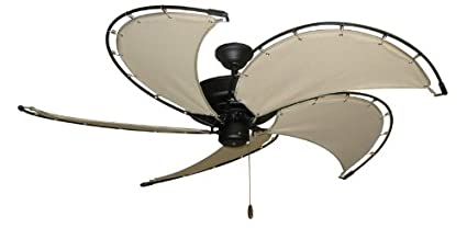 nautical ceiling fans low profile raindance nautical ceiling fan in matte black with 52quot spring frame blades wkhaki 52