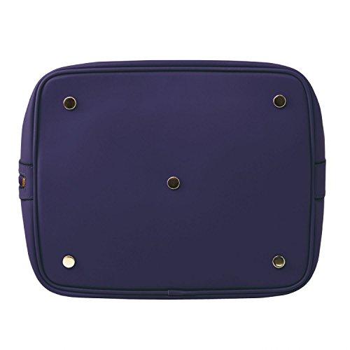 Tuscany Leather Vittoria Borsa secchiello da donna in pelle Ruga - TL141531 (Nero) Blu scuro