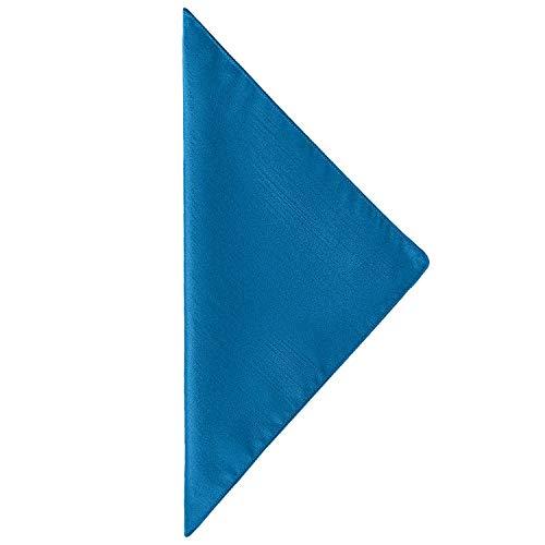 (Ultimate Textile -1 Dozen- Reversible Shantung Satin - Majestic 10 x 10-Inch Cloth Cocktail Napkins Cobalt Blue)