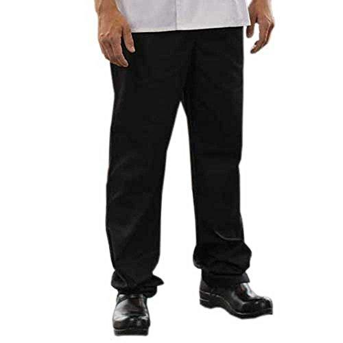 ChefsCloset Black Executive Chef Pants (2XL) - Executive Chef Pants