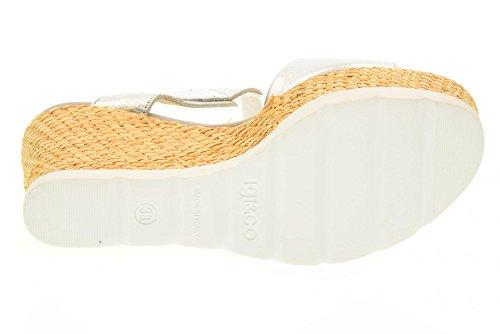 IGI&CO Sandalen Frauen Schuhe mit Keil 78694/00 Silber