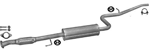 ETS-EXHAUST 52268 Silenziatore marmitta Centrale + kit di montaggio (pour DOBLO 1.6 VAN 103hp 2000-2005) ETS-SCARICO