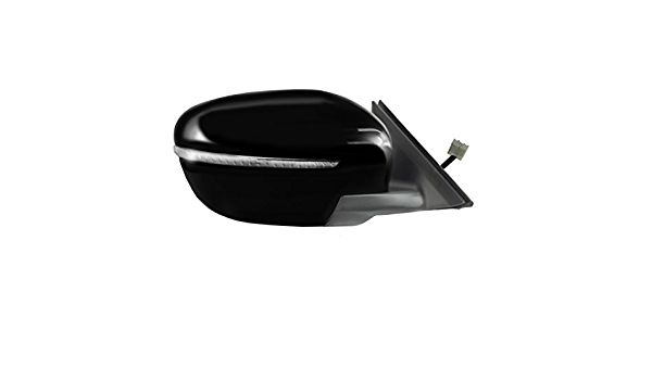 Power Foldaway Korea and Japan Built Fit System Driver Side Mirror for Nissan Rogue US Textured Black w//PTM Cover