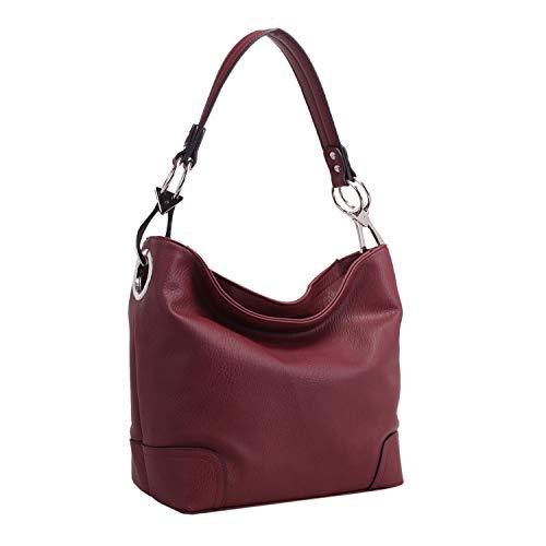 MKF Hobo Purses for Women – Soft PU Leather Handbag Slouchy Womens Hobo Shoulder bag – Fashion Top Handle Pocketbook