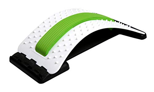 PosturePerfect - Lumbar Back Stretcher - Adjustable Arched Design - Acupressure Relieve Muscle Tension and Back Pain - Improve Posture - Home Office and Car