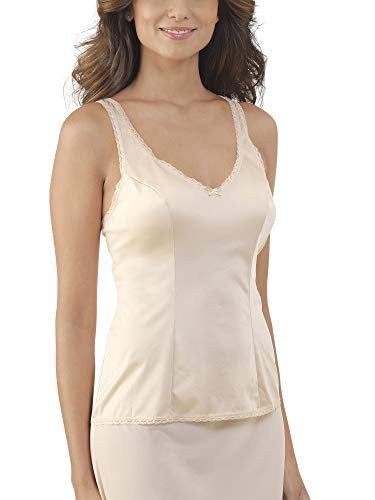 Vanity Fair Women's Plus Size Daywear Solutions Built Up Camisole 17760, Damask Neutral, - Camisole Nylon Slip