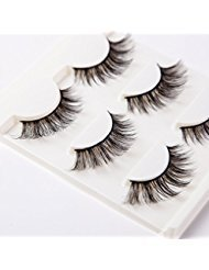 3D False Eyelashes Extension 3Pairs Long Lashes With Volume for Womens Make Up Handmade Soft Fake Eyelash