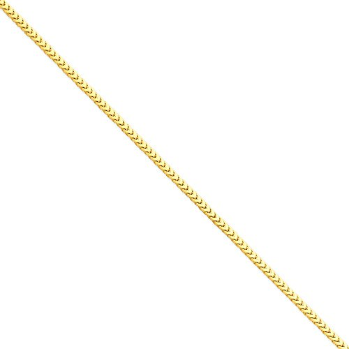 14k Solid Yellow Gold 3mm Franco Anklet Bracelet -9'' (9in x 3mm) by Unknown