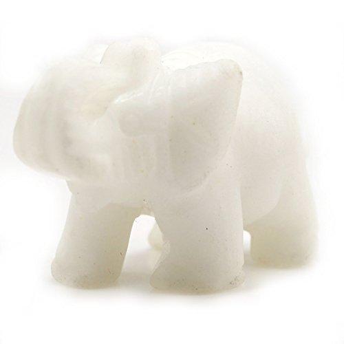 Carved Healing Crystal Guardian Elephant Pocket GemStone ...