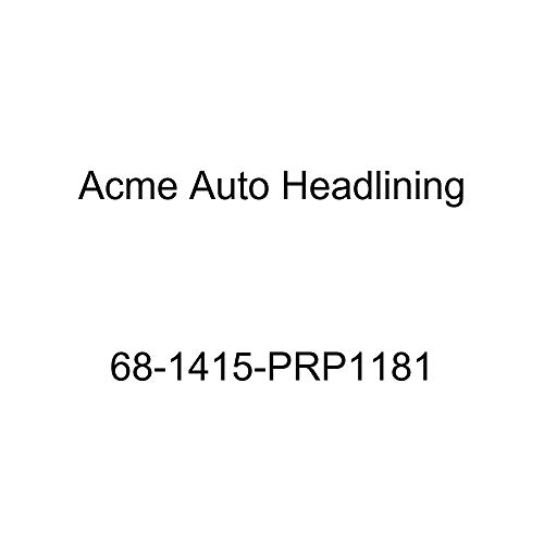 Acme Auto Headlining 68-1415-PRP1181 White Replacement Headliner (Chevrolet Impala 4 Door Hardtop 5 Bow)