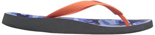 Vionic Heren Strand Manly Flip Flop Blauwe Camo Oranje