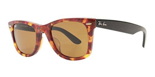 Ray-Ban Original Wayfarer Fleck Tortoise Black, RB2140F 1161 (Sunglasses Ray Original Wayfarer Ban Womens)