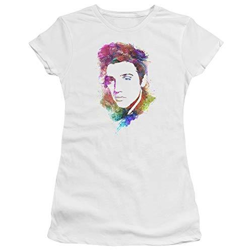 Presley White Avec Premium Aquarelle T Elvis Bella shirt Femme Pour zdOnnq