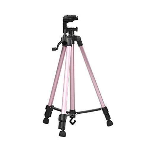 Camera Portable Phone Live Selfie 3366 Tripod Stand DV SLR Camera Self-Timer Full Light Bracket(Silver) Convenient (Color : Pink) by JUNXI