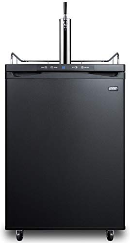 Summit SBC635M7CF 24 Inch Wide 5.6 Cu. Ft. Capacity Free Standing Coffee Kegerator with Single Flat Cold Brew Tap