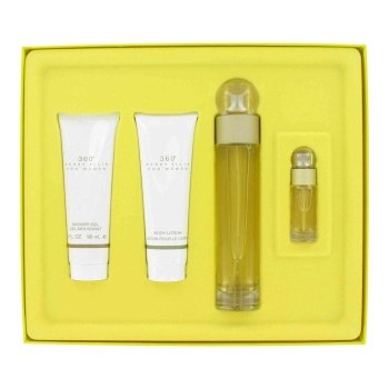 Perry Ellis 360 By PERRY ELLIS For Women Gift Set - 3.4 oz Eau De Toilette Spray + 3 oz Shower Gel + 3 oz Body Lotion + .25 oz Mini EDT (0.25 Edt)